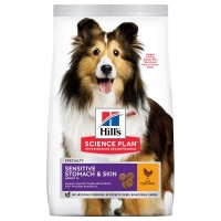 HILLS Adult Medium Sensitive Stomach & Skin Kurczak 14kg